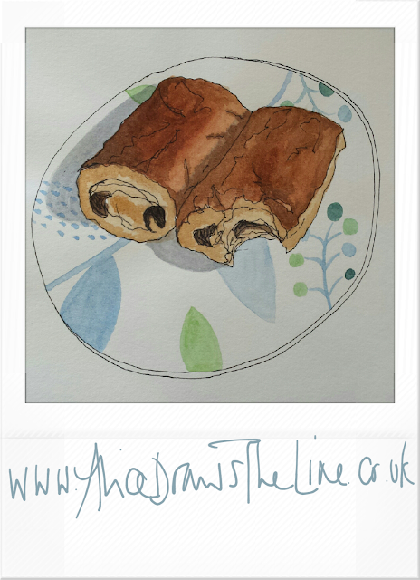www.AliceDrawsTheLine.co.uk :: Pain au Choc