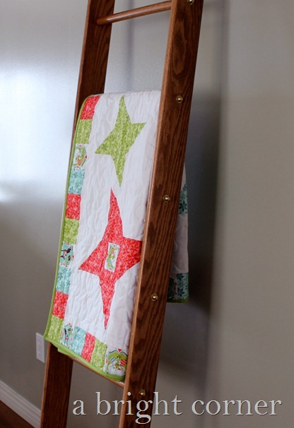 Friendship Star Christmas quilt from A Bright Corner