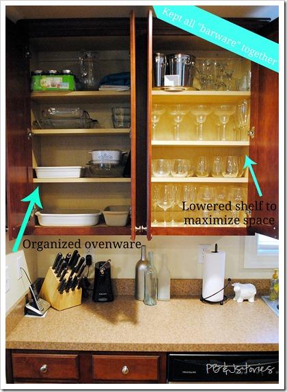 Organizing Kitchen Cupboards Food