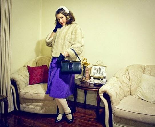 Faux fur 1940s vintage style | Lavender & Twill