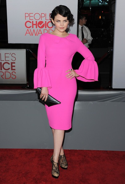Ginnifer Goodwin arrives at the 2012 People's Choice Awards