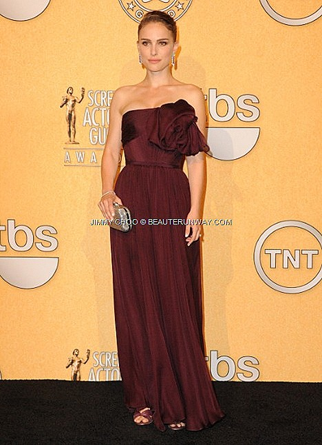 Jimmy Choo Macy Natalie Portman 18th Annual SCREEN ACTORS GUILD AWARDS 2012 SAG Awards