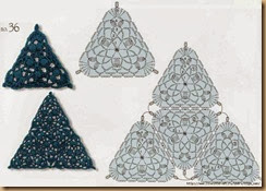crochet triangle three