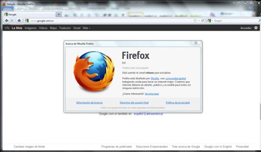 Firefox 8 en español