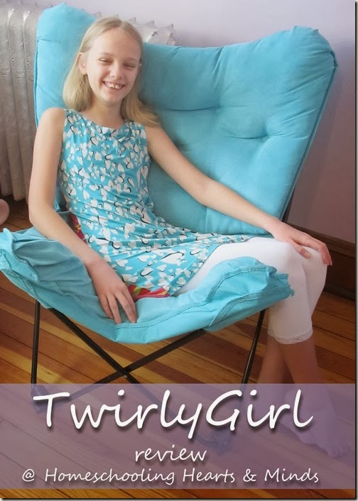 Comfy fit- TwirlyGirl Dresses review at Homeschooling Hearts & Minds