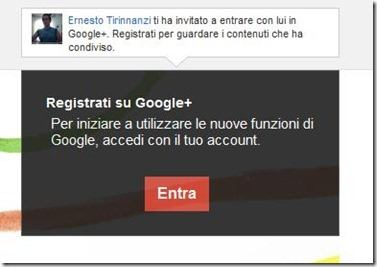 invito su Google Plus