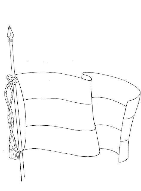 Bandera De Andalucia Para Colorear