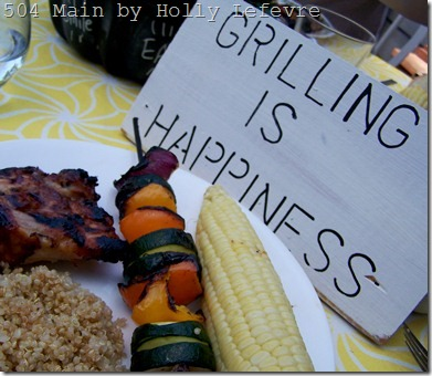 grilling is happinesss sign