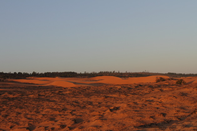 The Red Sand Dunes of Mui Ne at Sunset