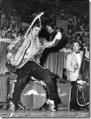 Elvis dances 1950s