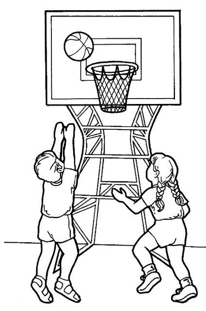 Dibujos De Baloncesto Para Colorear