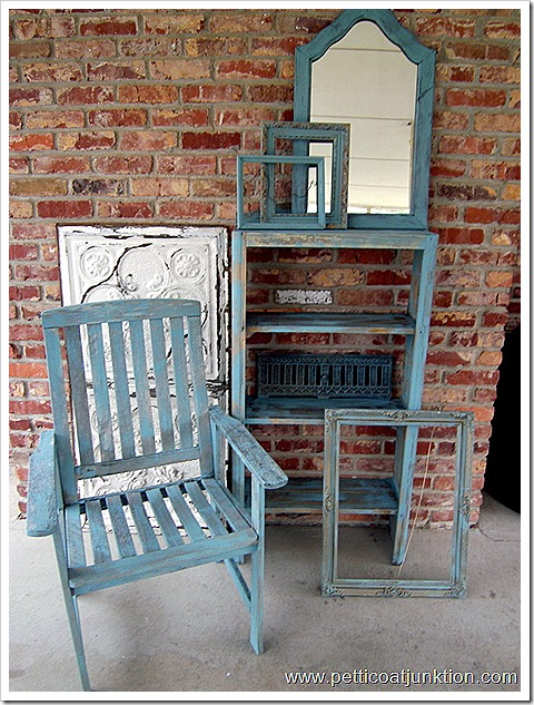 Aqua Blue Painted Furniture Makeovers