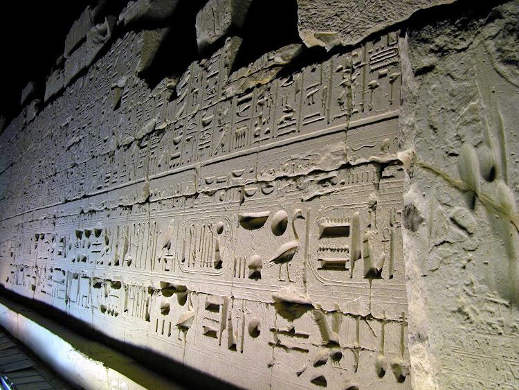 Sound & Light Show at the famed Karnak Temple in Luxor, Egypt.