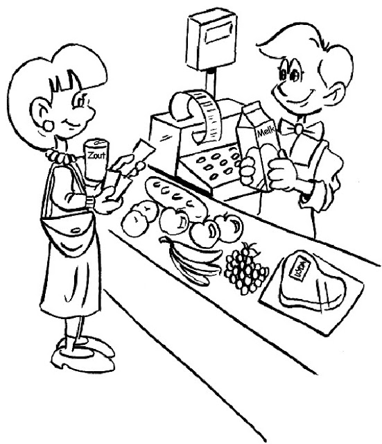 grocery store coloring pages - photo#9