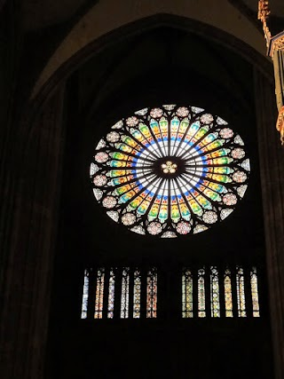 Rosace à la Cathédrale Notre-Dame à Strasbourg