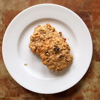 Chewy Crispy Oatmeal Raisin Cookies.