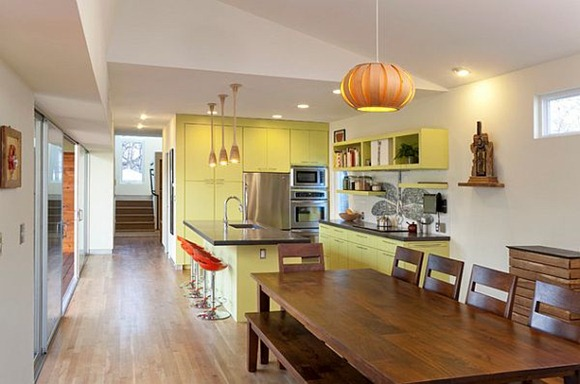 green-lively-painted-kitchen-cabinets