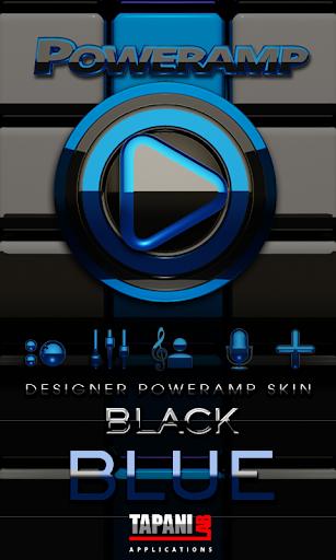 Poweramp skin Black Blue