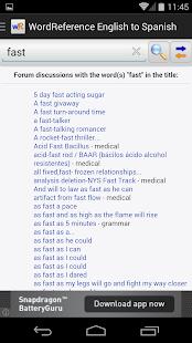 WordReference.com dictionaries- screenshot thumbnail