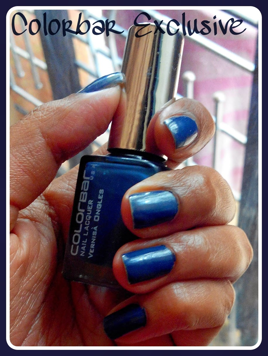 About Lipsticks And Blushes: Ink Blue Nails With Colorbar