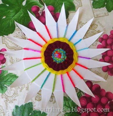 paper plate weaving 8