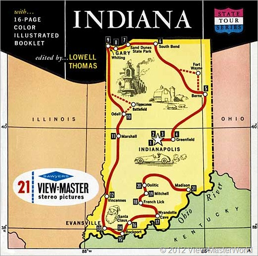 View-Master Indiana (A570), Packet Cover