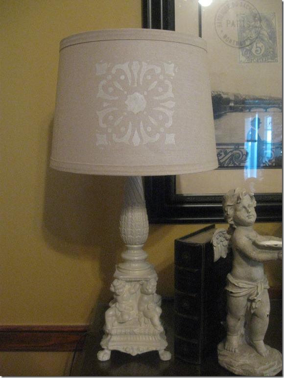 stenciled lamp 012