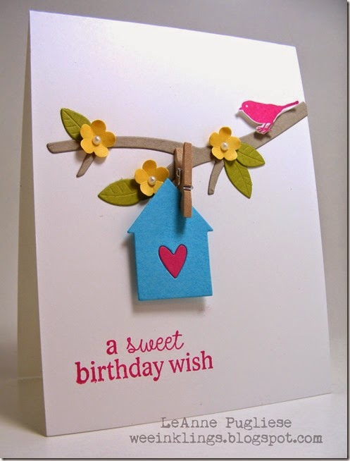LeAnne Pugliese WeeInklings ColourQ242 Sweet Birthday Wish