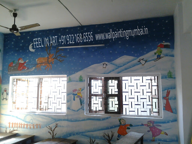 PLAY SCHOOL WALL PAINTING INDIA