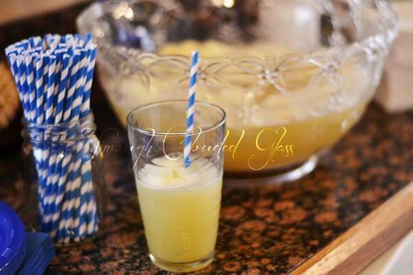 Pineapple Sherbet Punch | Through Clouded Glass