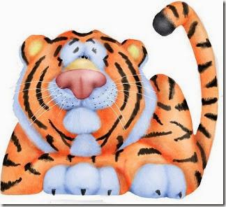 dibujos de tigre en color para descargar