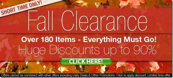 fall clearance wow