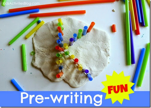 Practice making letters with straws #alphabet #preschool