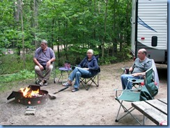 7172 Restoule Provincial Park - Kettle Point Campground - Peter, Janette & Bill @ Peter and Janette's campsite #494