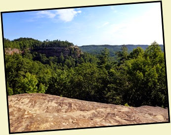 15 - View Lookout Point on Laurel Ridege from Top of Natural Bridge