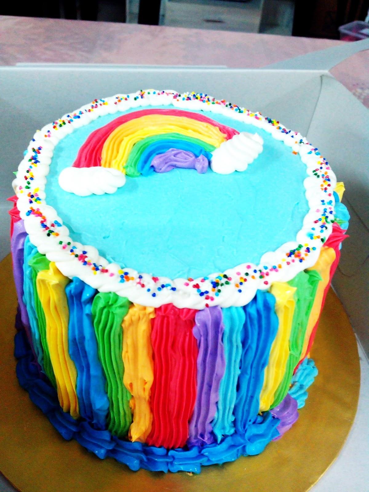 Rainbow Cake For Candy Buffet Kek Pelangi Candy Buffet