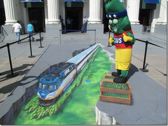 Here comes the underground train -3D Paintings