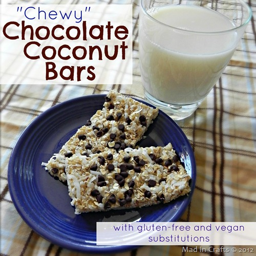 Chewy Choc Coconut Bars
