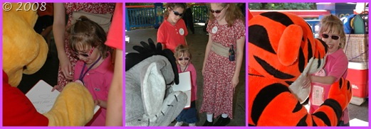 Meeting Pooh, Eeyore, and Tigger