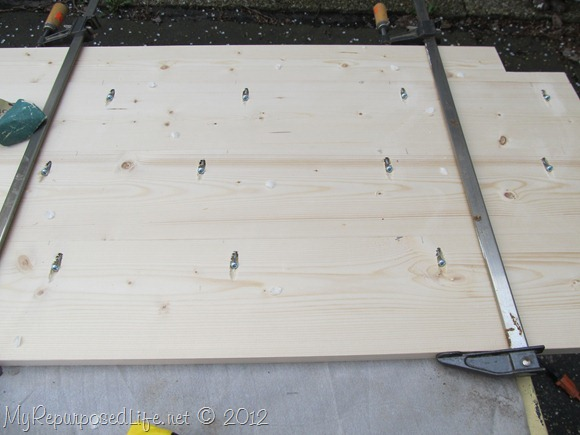 clamp and screw headboard bench seat