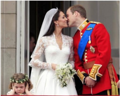 la niña de la boda real