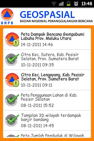 Geospasial BNPB - screenshot