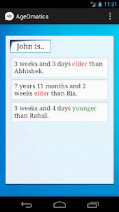 AgeOmatics screenshot