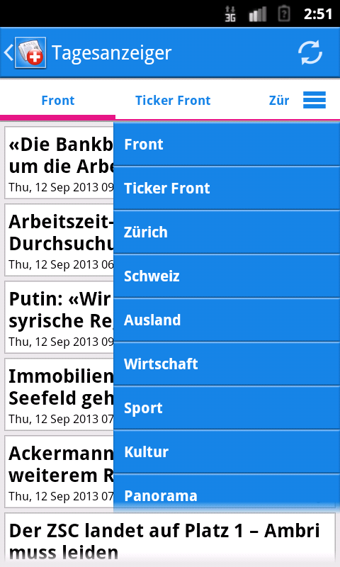 Schweiz News- screenshot