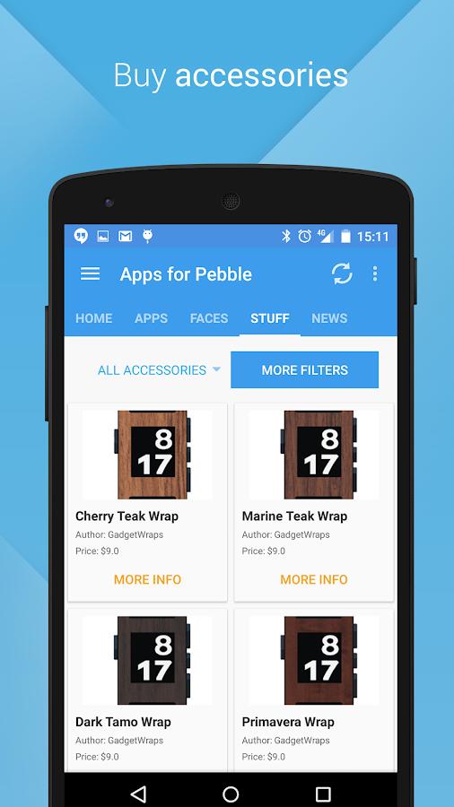 Apps for Pebble - screenshot