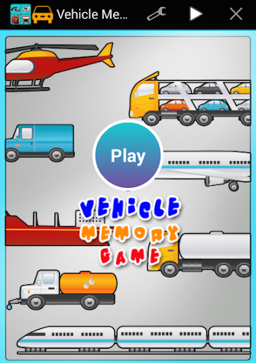 Vehicle Memory Game