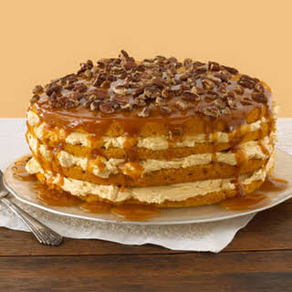 Luscious Four-Layer Pumpkin Cake.