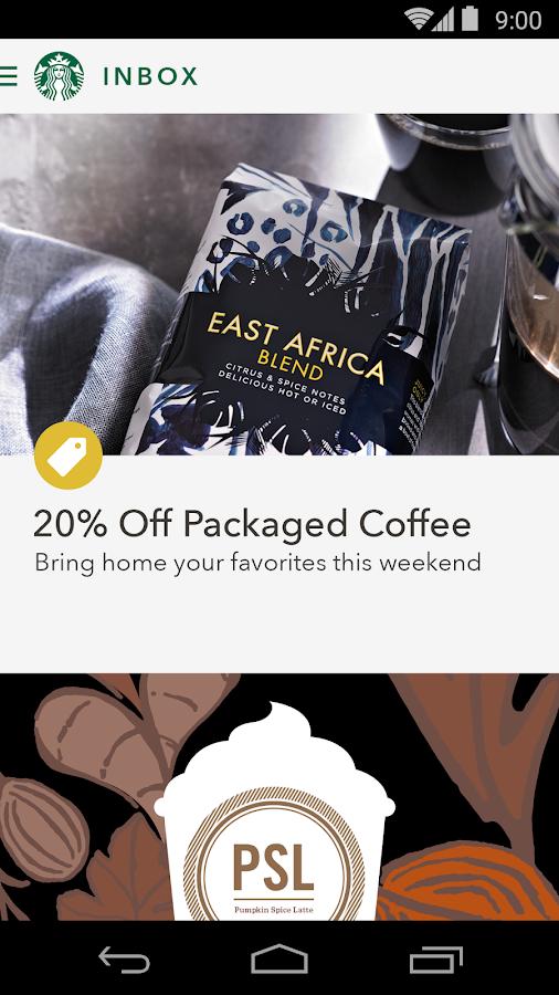 Starbucks - screenshot