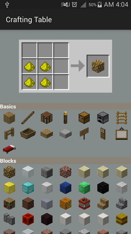 Crafting Table for Minecraft - Android Apps on Google Play