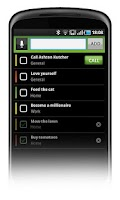 Screenshot of Task List